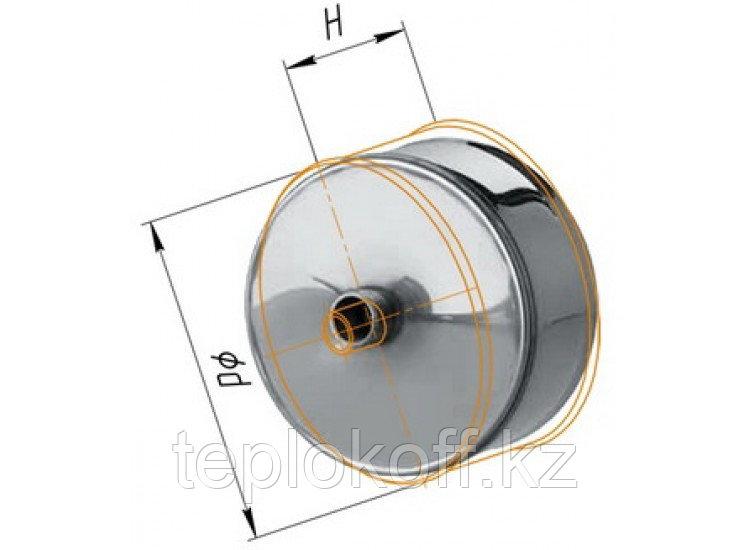 Заглушка М с конденсатоотводом D=150, AISI 430, 0,5 мм (Феррум)