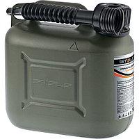 Канистра для ГСМ вертикальная 5 литров, пластиковая, усиленная STELS