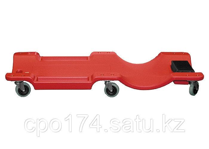 Лежак ремонтный на 6-ти колесах, 1000 х 475 х 128 мм, пластиковый MATRIX - фото 2