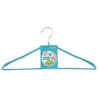 Вешалка металлическая для верхней одежды с прорезиненным противоскользящим покрытием 45 см, бирюзовая ELFE