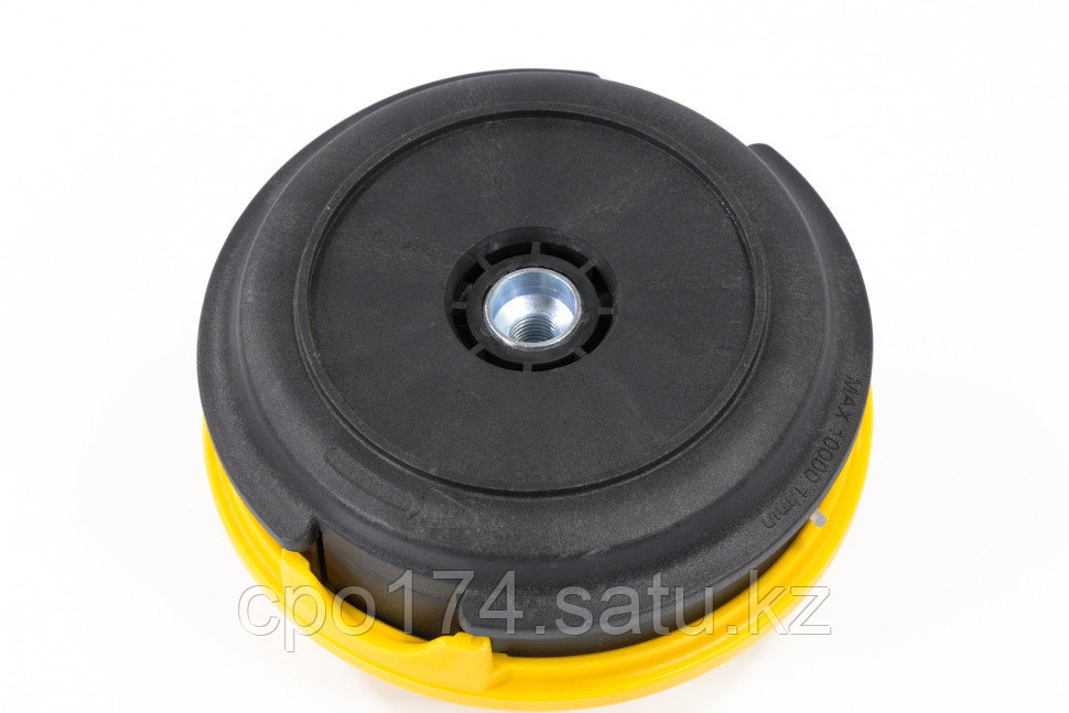 Катушка триммепная полуавтоматическая, легкая заправка лески, гайка M10x1,25, винт M10-M10, алюминиевая кнопка - фото 3