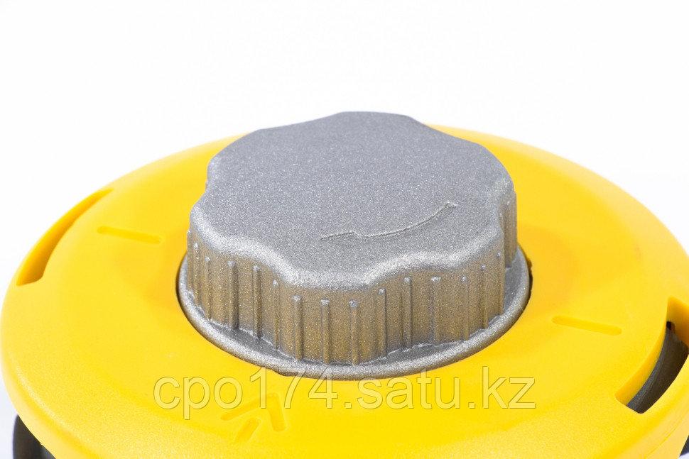 Катушка триммепная полуавтоматическая, легкая заправка лески, гайка M10x1,25, винт M10-M10, алюминиевая кнопка - фото 4
