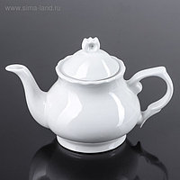 Чайник 800 мл «Классика. Слоник», цвет белый