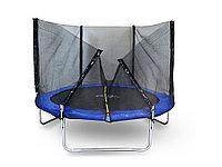 Батут StartLine Fitness 8 футов (244 см) СКЛАДНОЙ с внешней сеткой