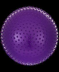 Мяч гимнастический массажный GB-301 65 см, антивзрыв, фиолетовый