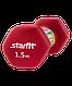 Гантель неопреновая DB-201 1,5 кг, насыщенная красная, фото 2