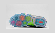 Баскетбольные кроссовки Nike Lebron 12 Elite Series синий и оранжевый, фото 3