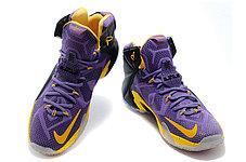 Баскетбольные кроссовки Nike Lebron 12 Purple Black Gold, фото 3