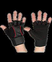 Перчатки атлетические SU-120, чёрные