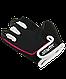 Перчатки для фитнеса SU-111, черные/белые/розовые, фото 4
