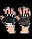 Перчатки для фитнеса SU-111, черные/белые/голубые, фото 2