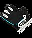 Перчатки для фитнеса SU-111, черные/белые/голубые, фото 4