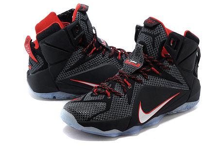 Кроссовки для баскетбола Nike Lebron 12 Red black, фото 2