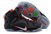 Кроссовки для баскетбола Nike Lebron 12 Red black, фото 3