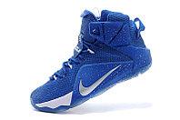 Кроссовки для баскетбола Nike Lebron 12 Sapphire White