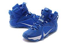 Кроссовки для баскетбола Nike Lebron 12 Sapphire White, фото 2