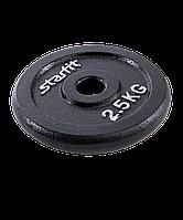 Диск чугунный BB-204 2,5 кг, d=26 мм, черный
