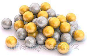 Шарики диам. 6 см (50 шт. в сетке) золотой и серебряный цвет