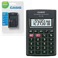 Калькулятор карманный CASIO HL-4A-S, КОМПАКТНЫЙ (87х56х8,6 мм), 8 разрядов, питание от батареи, черный,