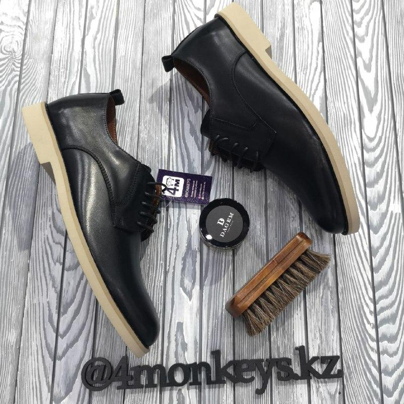 Мужские кожаные туфли - фото 4