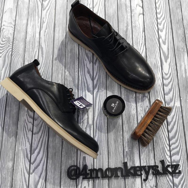 Мужские кожаные туфли - фото 5