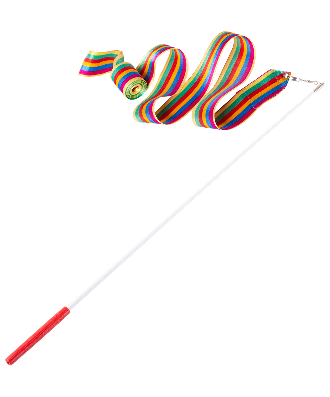 Лента для художественной гимнастики AGR-201 4м, с палочкой 46 см, радуга