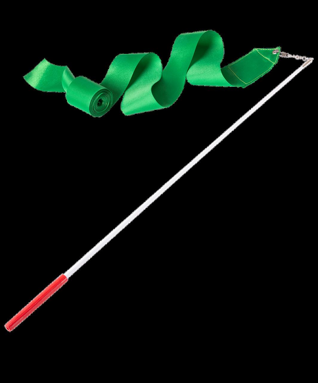 Лента для художественной гимнастики AGR-201 6м, с палочкой 56 см, зеленый