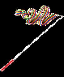 Лента для художественной гимнастики AGR-201 6м, с палочкой 56 см, радуга