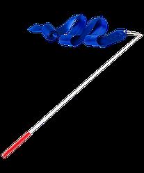 Лента для художественной гимнастики AGR-201 6м, с палочкой 56 см, синий