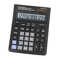 Калькулятор настольный Citizen 14 разрядный  SDC-554S чёрный