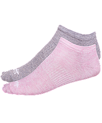 Носки низкие SW-205, розовый меланж/светло-серый меланж, 2 пары р 35-38
