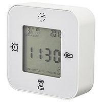 Часы/термометр/будильник/таймер КЛОККИС белый ИКЕА, IKEA