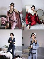 Стильная пижама тройка, фото 1