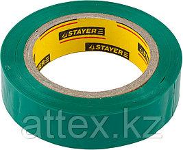 Изолента, STAYER Master 12291-G-15-10, ПВХ, 5000 В, 15мм х 10м, зеленая