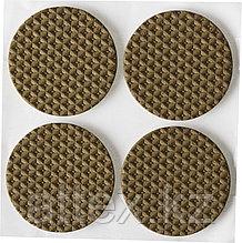 """Накладки STAYER """"COMFORT"""" на мебельные ножки, самоклеящиеся, ЭВА, коричневые, круглые - диаметр 35 мм, 4 шт 40914-35"""