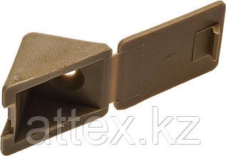 Уголок мебельный с шурупом, цвет бук, 4,0x15мм, 4шт, ЗУБР 4-308256-2