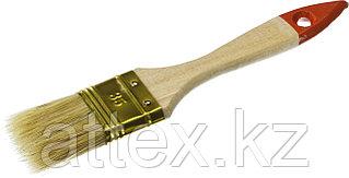 """Кисть плоская ЗУБР """"УНИВЕРСАЛ-ОПТИМА"""", светлая щетина, деревянная ручка, 35мм  01099-038_z01"""