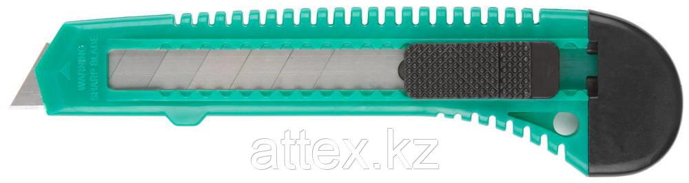Нож DEXX с сегментированным лезвием, инструментальная сталь Ст60, пластиковый корпус, 18мм 0909