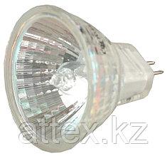 Лампа галогенная СВЕТОЗАР с защитным стеклом, цоколь GU4, диаметр 35мм, 35Вт, 12В SV-44713