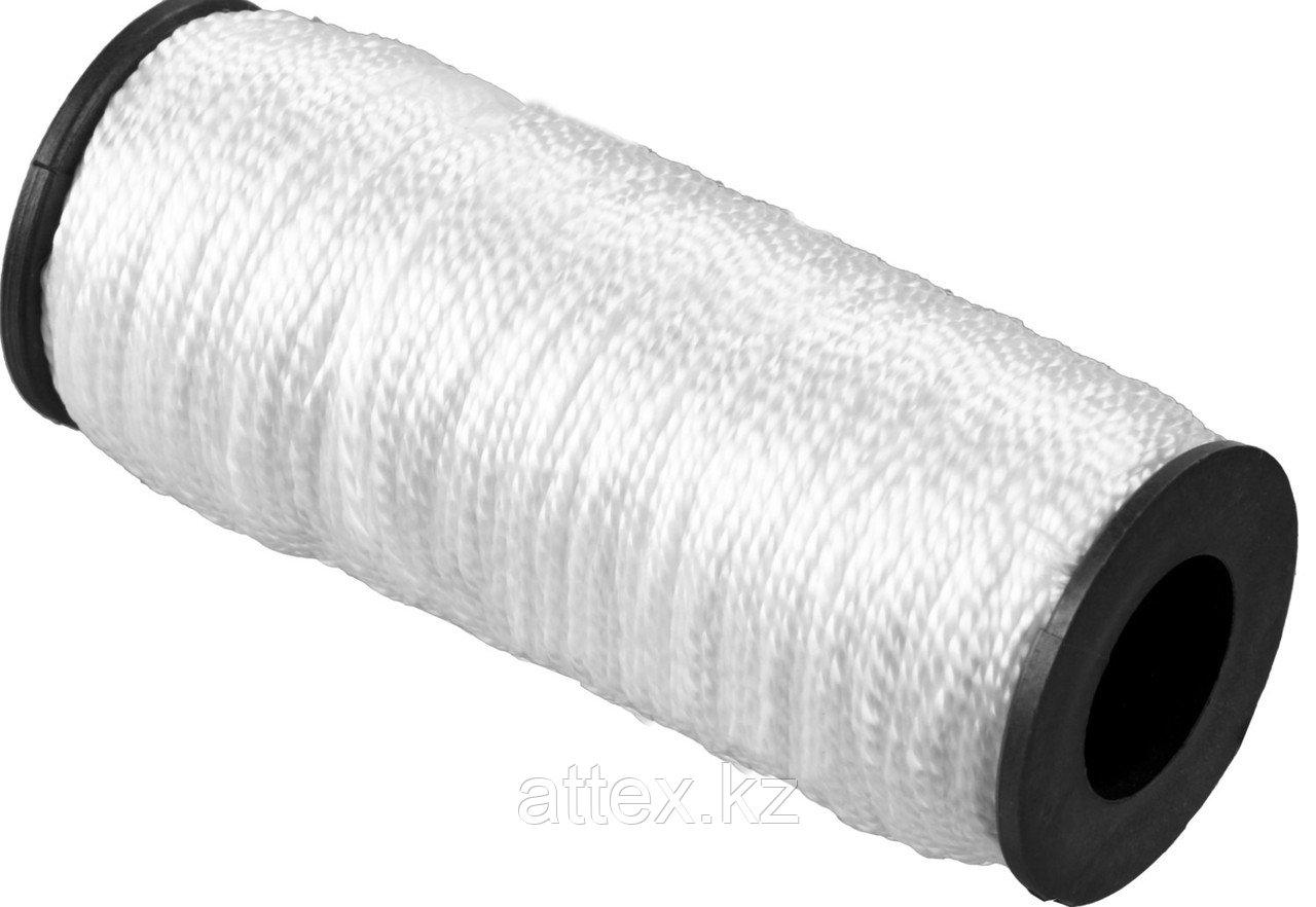 Шнур кручёный капроновый СИБИН, диаметр - 1,5 мм, длина - 100 м (катушка), 45 кгс 50526