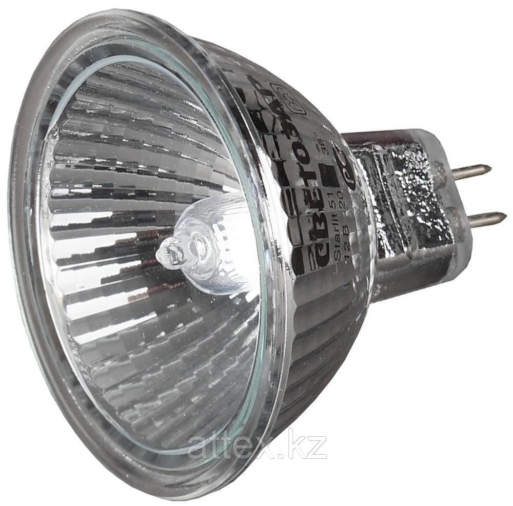 Мощность 35ВТ, Тип цоколя GU5.3, напряжение 12В, диаметр 51мм, СВЕТОЗАР, SV-44733