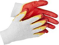 "Перчатки STAYER ""МASTER"" трикотажные, двойная обливная ладонь из латекса, х/б, 13 класс, L-XL 11409-XL"