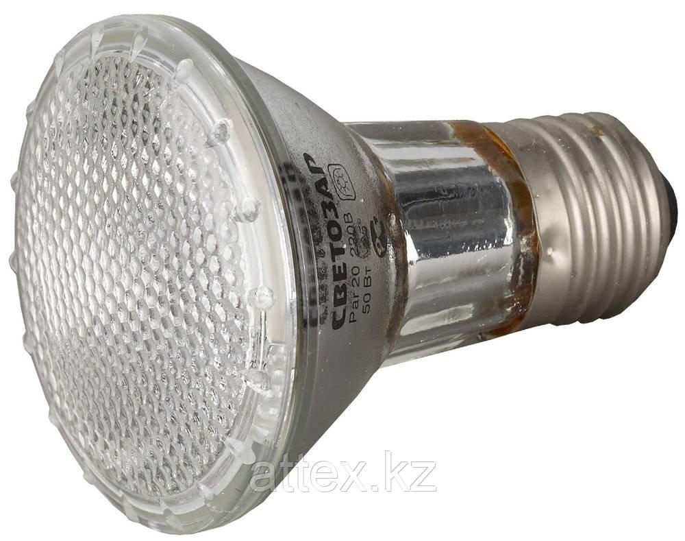 Лампа галогенная СВЕТОЗАР с защитным стеклом, цоколь E27, диаметр 65мм, 50Вт, 220В SV-44855