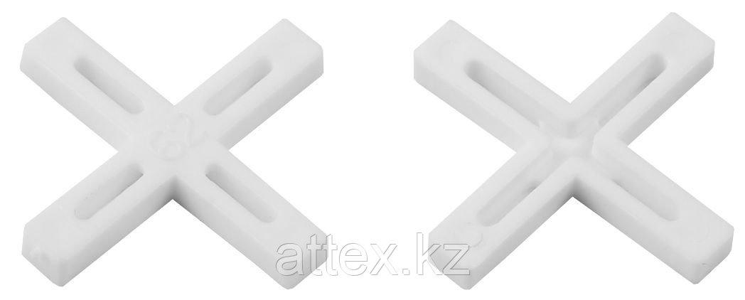 Крестики для кафеля, 6мм, ЗУБР 33811-6, 75шт