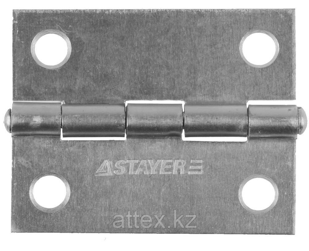 """Петля дверная STAYER """"MASTER"""" универсальная, цвет белый цинк, 50мм 37611-50-1"""