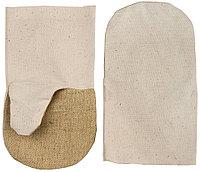 Рукавицы хлопчатобумажные с брезентовым наладонником, XL  11421