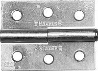 """Петля дверная STAYER """"MASTER"""" разъемная, цвет белый цинк, правая, 65мм 37613-65-1R"""