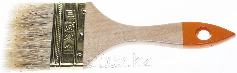 Кисть флейцевая DEXX, деревянная ручка, натуральная щетина, индивидуальная упаковка, 75мм  0100-075_z02