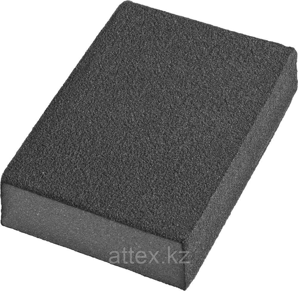 Губки шлифовальные DEXX четырехсторонняя, AL2O3 средняя жесткость, Р120, 100х68х26мм 35637-120
