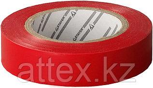 Изолента, STAYER Profi 12292-R-15-10, ПВХ, на карточке, 15мм х 10м х 0,18мм, красная